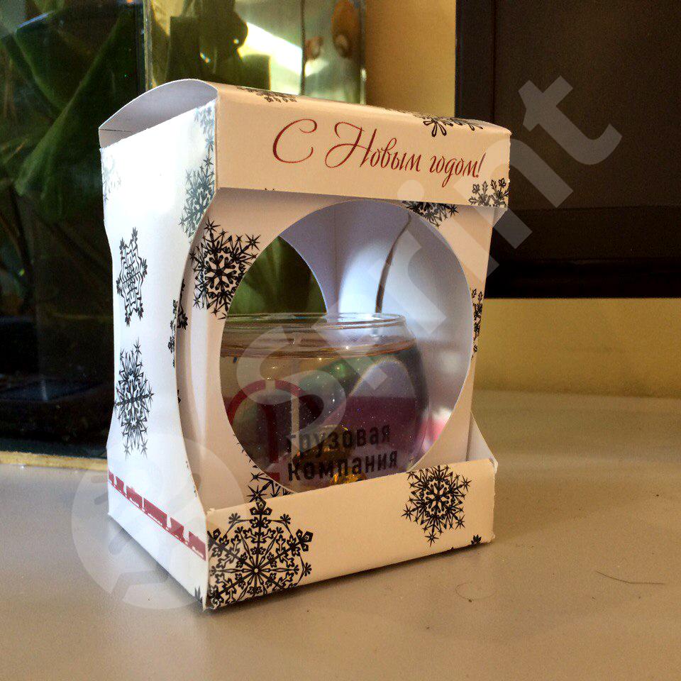Печать на свечках + коробка из картона